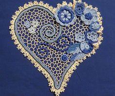 Irish crochet patterns, Irish crochet lessons, Irish crochet motives, crochet flowers, crochet leaves, crochet cords, Irish crochet netting, Irish crochet mesh