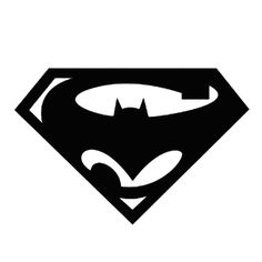 Superman Batman Die Cut Vinyl Decal PV1171