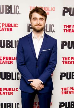 Daniel Radcliffe attends the opening night of 'Privacy' at The Public Theater on July 18, 2016 in New York City.