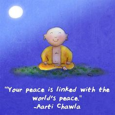 Buddha Doodles – Your peace is linked with the world's peace. – Aarti Chawla