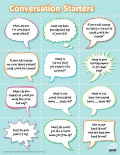 Conversation Starters for ESL classes. Good icebreaker activity too! #teacher #esol