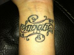 Serenity wrist tattoo! This one looks way better than mine! :)