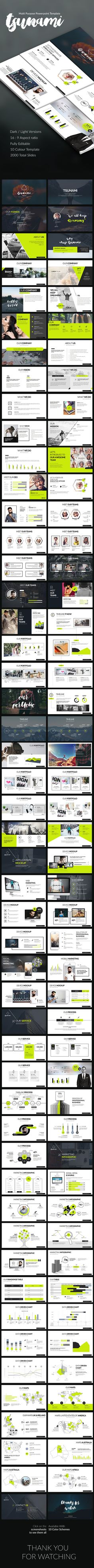 Tsunami Powerpoint Presentation Template