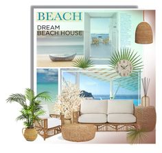 """Dream Beach House"" by lotoss ❤ liked on Polyvore featuring interior, interiors, interior design, home, home decor, interior decorating, Currey & Company, Palecek, Serena & Lily and Ralph Lauren Home"