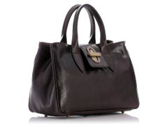 Skórzana torebka damska ciemny brąz MILENA