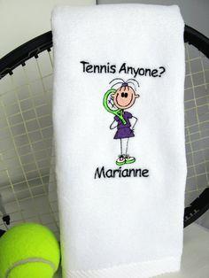Tennis Gift  Personalized Tennis Towel  Tennis by TennisGiftsToGo