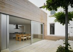 Cladding instead of render - maintenance? Dublin Award Winning Building and Construction Company - Deevy Construction Cedar Cladding, House Cladding, Facade House, Exterior Design, Interior And Exterior, External Cladding, Wood Architecture, London House, House Extensions