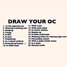DRAW YOUR OC WHILE...CHALLENGE (You Choose!) c: by animangaemo on ...