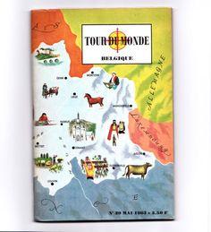 Revue mensuelle Tour du Monde. La Belgique. Année : 1963.