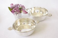 Pair Of Felix Freres de Toulouse Art Deco Silver Dishes by Beyond The Brocante on Gourmly