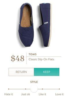 TOMS Classic Slip On Flats from Stitch Fix. https://www.stitchfix.com/referral/4292370