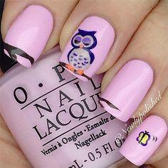25 Cute Owl Nail Art Designs and Ideas | http://www.meetthebestyou.com/25-cute-owl-nail-art-designs-and-ideas/
