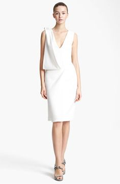 Christopher Kane Asymmetrical Drape Crepe Dress