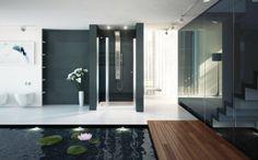 Amazing Kuan Studio's Sense of Design : KUAN Studio Contemplates Shower And Spa Indoor Pond