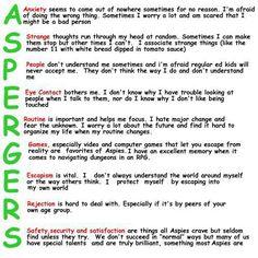 Great description of Aspergers... #autism #aspergers