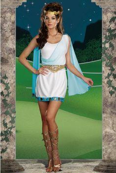 Its Chic To Be Greek Costume, Womens Greek Goddess Costume, Womens Grecian Costume Goddess Halloween Costume, Greek Goddess Costume, Hallowen Costume, Sexy Halloween Costumes, Costume Ideas, Halloween Ideas, Toga Costume, Costume Hire, Trendy Halloween