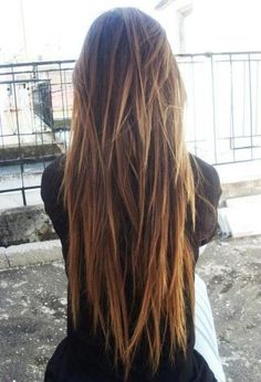 v layered hair tumblr - Google Search