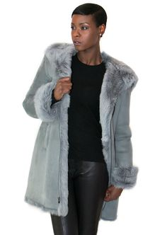 Leanne Women's Shearling Swing Coat | Women's Shearling Coats and