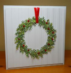 Inspired Wreath by susanbri - Cards and Paper Crafts at Splitcoaststampers