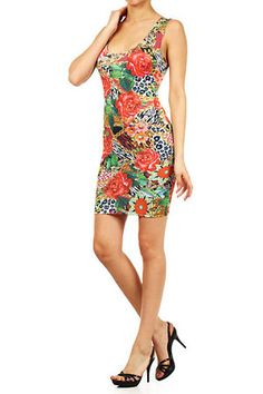 Bahama Mama Floral Mini Dress - $23.85 at DressesHabitat.com - #DressesHabitat #FashionHabitat