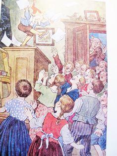 Vintage German CHILDREN BOOK, Kasperle, Live Puppet, (Pinocchio), Ernst Kutzer, Austrian Illustrator, 1950 by AlpineCountryLooks on Etsy