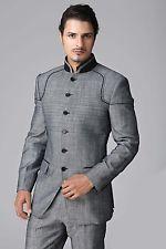 Designer Custom made Men Formal grey Wedding Coat INDO WESTERN Designer Suit 85