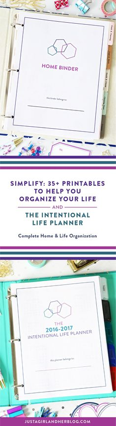Getting organized and finding time to accomplish your biggest goals is challenging. That's why I created Simplify (my printable home binder)