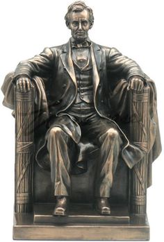 Unicorn Studios Seated Abraham Lincoln Sculpture, As Shown Abraham Lincoln, Elephant Home Decor, Home Decor Furniture, Bronze Finish, Famous People, Bookends, It Cast, Artwork, Tatoo