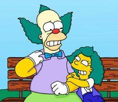 Krusty y su hija.