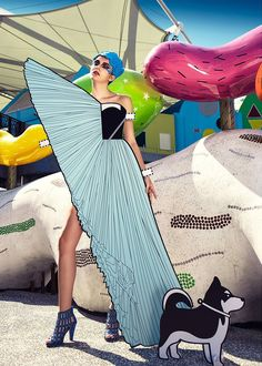 ajax lee turns nine iconic outfits into paper doll portraits + comic couture