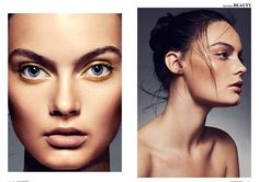 Hair ideas/ gold eye makeup editorial