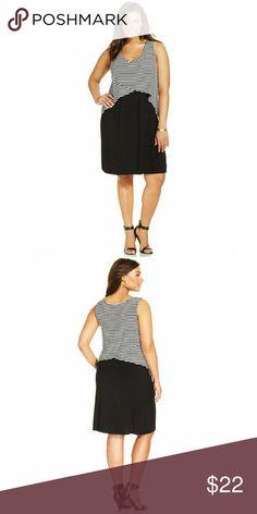 Style & Co. Plus Size Stripe-Overlay Dress Style & Co. Plus Size Stripe-Overlay Dress Style & Co Dresses