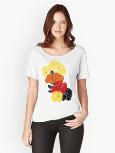 Buy 'Bright summer flowers' by NoreenMaphumulo as a Fitted Scoop T-Shirt, Fitted V-Neck T-Shirt, Relaxed Fit T-Shirt, or Premium Scoop T-Shirt Summer Flowers, Boutique Clothing, V Neck T Shirt, Fitness Models, Shirt Designs, Short Sleeves, Lily, T Shirts For Women, Tees
