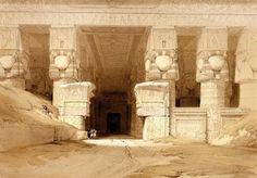 PORTICO OF THE TEMPLE OF DENDERA.