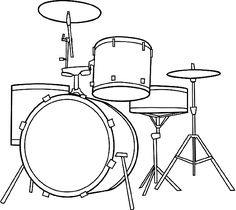 Musical Instruments Coloring Pages Printable Trommel Tattoo, Drums Pictures, Musical Instruments Drawing, Drum Drawing, Routeur Cnc, Drum Lessons For Kids, Drums Artwork, Drum Room, Drum Kits