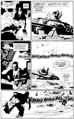 Mignola . Alien Salvation Comic Art
