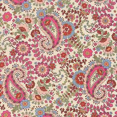 Regent Street Lawns Ivory Floral Paisley - Moda Fabric Designed by Sentimental Studios for Moda this Liberty-like floral print high quality cotton