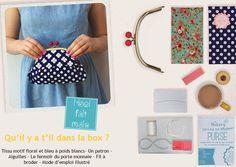 Kit cousu main - Porte monnaie - Do it Yourself - Les Esthètes - idée cadeau pour elle très originale #couture
