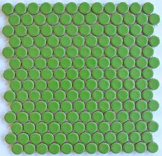 ModDotz Key Lime Porcelain Tile Penny Rounds