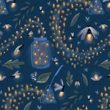 Catching Fireflies custom wallpaper by thestorysmith for sale on Spoonflower Firefly Painting, Firefly Art, Firefly Serenity, Firefly Quotes, Catching Fireflies, Wallpaper Roll, Custom Wallpaper, Bird Wallpaper, Custom Fabric