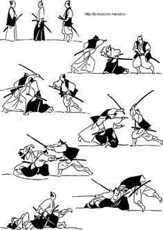 Отражение нападения двух человек.  Шел одинокий самурай, никого не трогал. Ему навстречу попались два самурая мерзавца   #самурай , #самураи , #катана , #меч , #katana , #samurai , #иайдо  Школа фехтования на катане, мачете, ноже. katanaclubmaster.com