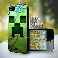 Minecraft Creeper Cracked Out - design for iPhone 5 case