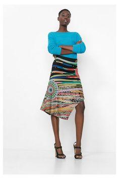Desigual Multicolored tube skirt. Discover women's fashion with attitude!