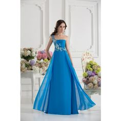 Modern One Shoulder Sleeveless Chiffon Evening Dresses