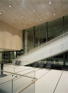 The Swedish embassy in Washington symbolizes scandinavian architecture with its light acoustic panels in maple wood veneer from Gustafs. Perforated Metal Panel, Metal Panels, Exposed Ceilings, Wood Ceilings, Lobby Interior, Interior Design, Acoustic Ceiling Panels, Textured Wall Panels, Scandinavian Architecture