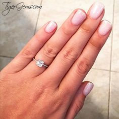 """""""Love my beautiful ring from @tigergemstones. It's even more beautiful in person.❤️"""" 💌 Thank you to my client for this review and photo of her 1.5 ctw princess accented solitaire ring. ━❤️━ Handmade with Love 100% Happiness Guarantee Free US Shipping & Free Returns ━💍━ Shop Now at TigerGems.com"""