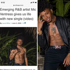 If you know me you know that I LOVE new artists! They create because it's their lifeline. I need that energy in my life.  This article feature is one of my faves! I've tracking the progression of @micventress for while and he's about to break the wall! I can feel it!! So when you get time, get to know my guy! He's on his way up!! Article link in Bio!! @upscale_pr @rollingout thanks for the assist! Get To Know Me, Getting To Know, R&b Artists, My Guy, New Orleans, Knowing You, My Life, Feelings, Guys