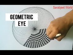 How To Draw ✎ Geometric EYE Complex Art Design, Easy Tutorial Doodle Drawing Step By Step - YouTube