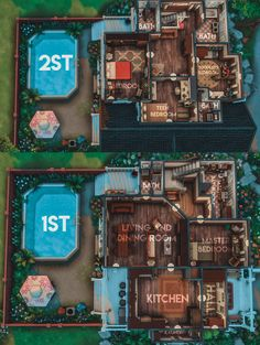 Sims 4 House Plans, Sims 4 House Building, Sims 4 Houses Layout, House Layouts, Sims Challenge, Muebles Sims 4 Cc, Sims Free Play, Sims 4 House Design, Sims 4 Collections