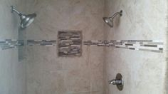 Another beautiful tile job on a shower remodel
